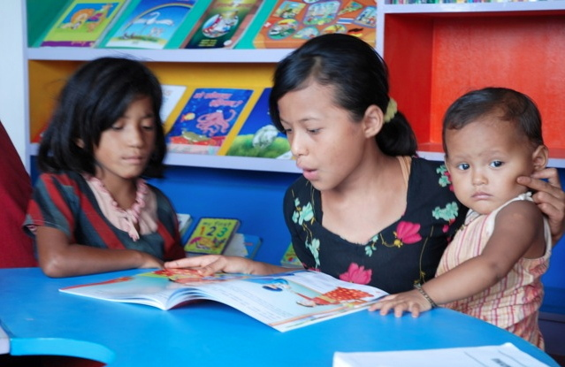 None of the children had ever seen colour books before the library opened in 2010. The library is by far the most popular room in school